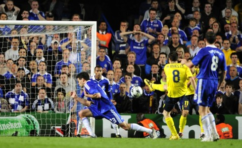 Iniesta scores for Barcelona v Chelsea, 2009